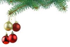 Weihnachtsunverwüstlicher gezierter Baum Stockfotos