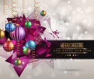 Weihnachtsursprüngliche moderne Hintergrundschablone lizenzfreie abbildung