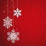 Weihnachtsvektor-Hintergrund mit Schneeflocken Stockfotografie