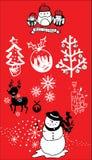 Weihnachtsvektor-Ikonensatz Lizenzfreie Stockbilder
