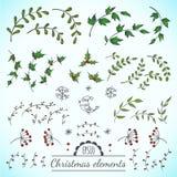 Weihnachtsvektorelemente Stockfotos