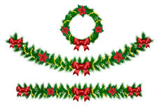 Weihnachtsvektorgirlande Stockbilder