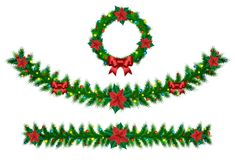 Weihnachtsvektorgirlande Stockfoto
