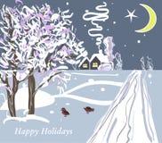 Weihnachtsvektorkarte Stockfotos