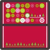 Weihnachtsvektorkarte Stockfoto