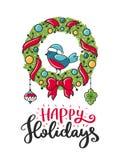 Weihnachtsvektorplakat Stockfotos