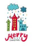 Weihnachtsvektorplakat Stockfoto
