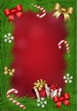 Weihnachtsvektorrahmen Stockfotos