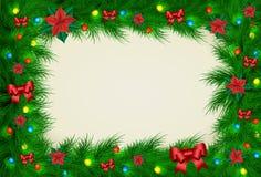 Weihnachtsvektorrahmen Stockfotografie