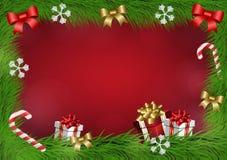 Weihnachtsvektorrahmen Lizenzfreies Stockbild