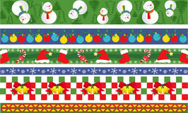 Weihnachtsvektorrand Stockfotos