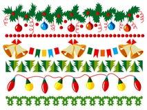 Weihnachtsvektorrand stock abbildung