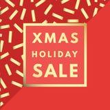 Weihnachtsverkauf kreativ, minimale Wintergrußkarte lizenzfreie abbildung