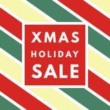 Weihnachtsverkauf kreativ, minimale Wintergrußkarte vektor abbildung