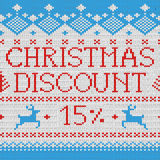 Weihnachtsverkauf: Rabatt 15% (skandinavisches Muster) Lizenzfreie Stockbilder