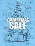 Weihnachtsverkaufs-Blauhintergrund stock abbildung