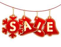 Weihnachtsverkaufs-Marken Lizenzfreies Stockfoto