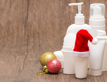 Weihnachtsverkaufs- oder -geschenkkonzept mit Kopienraum Lizenzfreies Stockfoto