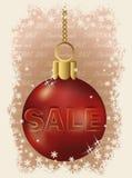 Weihnachtsverkaufs-Rotball lizenzfreie abbildung