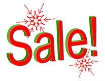 Weihnachtsverkaufs-Text Stockfoto