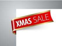 Weihnachtsverkaufsansage Stockbild