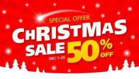 Weihnachtsverkaufsfahne lizenzfreie abbildung