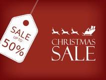 Weihnachtsverkaufsfahne Feiertagsverkaufsvektor Lizenzfreies Stockfoto