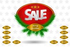 Weihnachtsverkaufssymbol Stockbild
