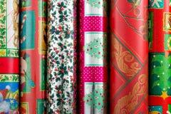 Weihnachtsverpackungs-Papier Lizenzfreie Stockfotos