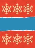 Weihnachtsverpackungspapier zerrissen Stockfotos