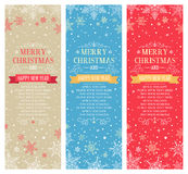 Weihnachtsvertikale Fahnen mit Raum für Kopie - Illustration Stockbild