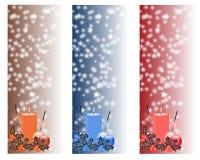 Weihnachtsvertikaler Fahnensatz Lizenzfreie Stockbilder