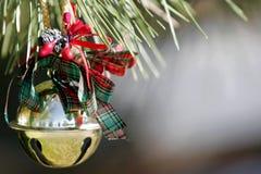 Weihnachtsverzierung auf einer Kiefer Lizenzfreies Stockfoto