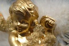 Weihnachtsverzierung - goldener Engel, Teil V lizenzfreies stockbild