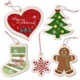 Weihnachtsverzierung-Markenansammlung Lizenzfreie Stockfotos