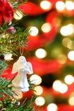 Weihnachtsverzierung unscharfe Leuchten Stockfotografie