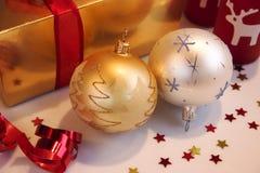 Weihnachtsverzierungen Stockbild