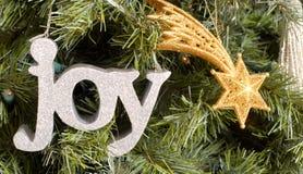 Weihnachtsverzierungen auf Baum Lizenzfreie Stockbilder