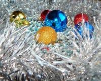 Weihnachtsverzierungen, Dekorationen, Stillleben, Hintergrund, Zusammensetzung Lizenzfreies Stockfoto