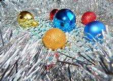 Weihnachtsverzierungen, Dekorationen, Stillleben, Hintergrund, Zusammensetzung Stockbild