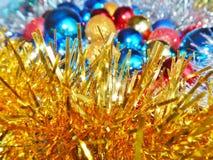 Weihnachtsverzierungen, Dekorationen, Stillleben, Hintergrund, Zusammensetzung Lizenzfreie Stockbilder