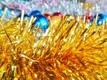 Weihnachtsverzierungen, Dekorationen, Stillleben, Hintergrund, Zusammensetzung Lizenzfreie Stockfotos