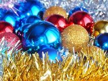 Weihnachtsverzierungen, Dekorationen, Stillleben, Hintergrund, Zusammensetzung Stockfoto