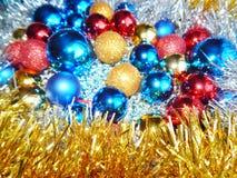 Weihnachtsverzierungen, Dekorationen, Stillleben, Hintergrund, Zusammensetzung Stockfotos