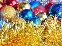 Weihnachtsverzierungen, Dekorationen, Stillleben, Hintergrund, Zusammensetzung Lizenzfreies Stockbild
