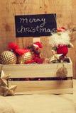 Weihnachtsverzierungen für den Baum Stockfotografie