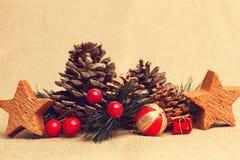 Weihnachtsverzierungen für den Baum lizenzfreie stockfotos