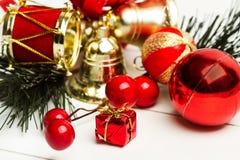 Weihnachtsverzierungen für den Baum Lizenzfreie Stockfotografie