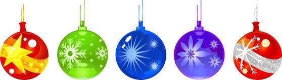 Weihnachtsverzierungkugeln stock abbildung