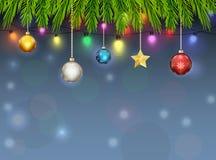 Weihnachtsverzierungs-Hintergrund Stockfoto